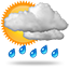Orta kuvvetli veya yoğun sağnak yağışlı